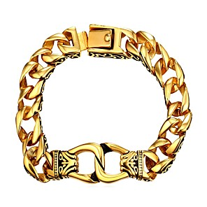 ieftine Brățări-Bărbați Brățări cu Lanț & Legături Chainul gros Modă Teak Bijuterii brățară Auriu / Argintiu Pentru Cadou Zilnic