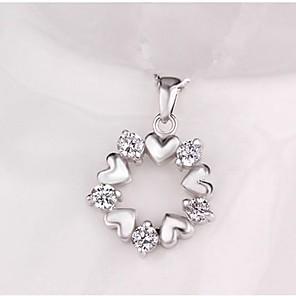 ieftine Colier la Modă-Pentru femei Pandative Clasic Inimă Στεφάνια femei Stilat Clasic Diamante Artificiale Broșă Bijuterii Argintiu Pentru Zilnic