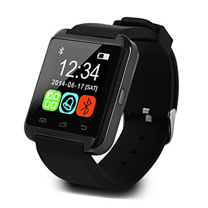 cheap Smart watches-U8 Men Smartwatch Android iOS Bluetooth Sports Touch Screen Calories Burned Temperature Display Smart Case Activity Tracker Alarm Clock / Hands-Free Calls / Media Control / Message Control