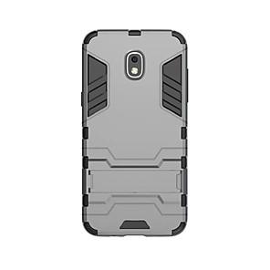 povoljno Maske/futrole za J seriju-Θήκη Za Samsung Galaxy J3 (2018) Otporno na trešnju / sa stalkom Stražnja maska Jednobojni Tvrdo PC
