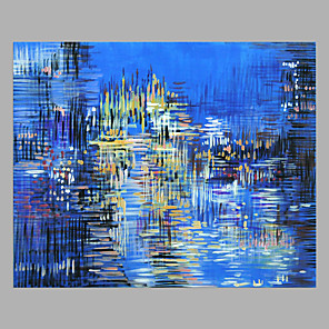 povoljno Bojano-Hang oslikana uljanim bojama Ručno oslikana - Sažetak Moderna Bez unutrašnje Frame / Valjani platno