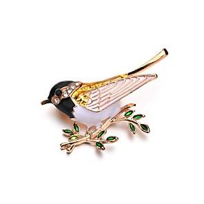 povoljno Broševi-Žene Broševi Klasičan Ptica dame Jedinstven dizajn Broš Jewelry Zlato Za Svečanost Večer stranka