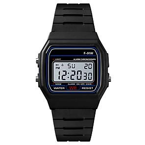 ieftine Ceasuri Bărbați-Bărbați Ceas Sport Ceas digital Japoneză Piloane de Menținut Carnea Silicon Negru / Rose 30 m Rezistent la Apă Alarmă Calendar Piloane de Menținut Carnea Modă - Negru Fucsia / Cronograf / Cronometru