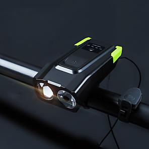 ieftine Audio & Video-LED dublu Lumini de Bicicletă Iluminat Bicicletă Față lumini de securitate Lumina cornului de bobină 5mm Lampă LED Ciclism montan Bicicletă Ciclism Rezistent la apă Foarte luminos Portabil Atenţie