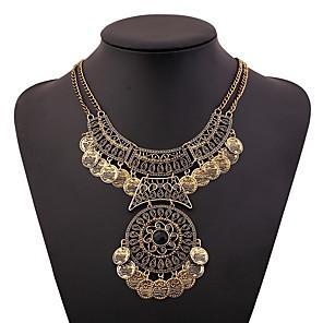 ieftine Colier la Modă-Pentru femei Guler femei Vintage african Elizabeth Locke Aliaj Auriu Argintiu 46+5 cm Coliere Bijuterii 1 buc Pentru Festival