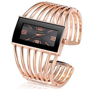 ieftine Cercei-Pentru femei Ceasuri de lux Ceas de Mână ceas de aur Quartz Oțel inoxidabil Argint / Auriu / Roz auriu Cronograf Draguț Model nou Analog Atârnat Modă - Auriu / Negru Roz auriu Negru / Roz auriu Un an
