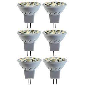 ieftine Faruri de Mașină-SENCART 6pcs 5 W 80 W Spoturi LED 260 lm MR11 MR11 15 LED-uri de margele SMD 5060 Decorativ Alb Cald Alb Rece 12 V