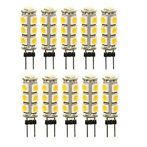ieftine Spoturi LED-SENCART 10pcs 3 W Becuri LED Bi-pin 180 lm G4 T 13 LED-uri de margele SMD 5050 Decorativ Alb Cald Alb Roșu 12 V