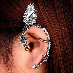 ieftine Cercei-Pentru femei Cătușe pentru urechi Căști de cățărare #D Balaur Ieftin femei Punk cercei Bijuterii Negru / Auriu / Argintiu Pentru Mascaradă Stradă 1 buc