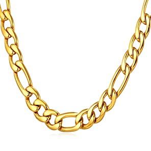 ieftine Coliere-Bărbați Lănțișoare Figaro lanț Box lanț Mariner Chain Modă Dubai Hip Hop Teak Negru Auriu Argintiu 55 cm Coliere Bijuterii 1 buc Pentru Cadou Zilnic