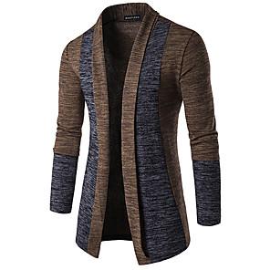 ieftine Bluze de Bărbați și Cardigane-Bărbați De Bază Peteci Bloc Culoare Cardigan Manșon Lung Mâneci Fluture Zvelt Regular Pulover Cardigans Primăvară Toamnă Iarnă Camel Gri Închis Gri
