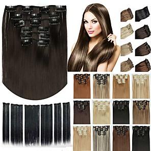 ieftine LED-uri-Agață În / Pe Fir de păr Păr Sintetic Fir de păr Extensie de păr Drept Lung Zilnic