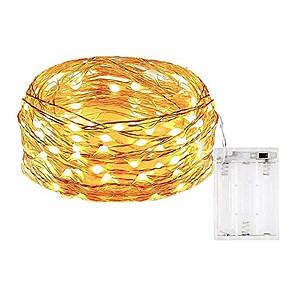 ieftine Spoturi LED-5m Fâșii de Iluminat 50 LED-uri SMD 0603 1 buc Alb Cald / Alb / Multicolor Rezistent la apă / Petrecere / Decorativ Baterii AA alimentate