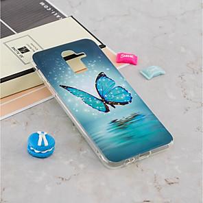 ieftine USB-uri-Maska Pentru Samsung Galaxy J8 (2018) / J7 (2017) / J7 (2018) Stralucire in intuneric / Model Capac Spate Fluture Moale TPU