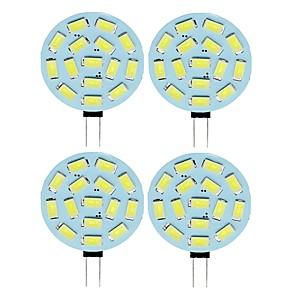 ieftine Becuri Solare LED-SENCART 4 buc 2 W Becuri LED Bi-pin 210 lm G4 T 15 LED-uri de margele SMD 5730 Alb Cald Alb Rece 12 V