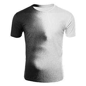 ieftine Colier la Modă-Bărbați Rotund - Mărime Plus Size Tricou Bumbac De Bază - #D Imprimeu Alb / Manșon scurt