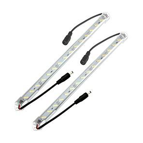 ieftine Benzi Luminoase-ZDM® 2X0.5M Bară Rigidă Cu Becuri LED 2*36 LED-uri SMD 8520 1Setați suportul de montare 2pcs Alb Cald Alb Rece Rezistent la apă De Legat 12 V / IP44