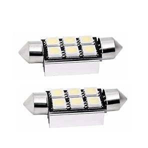 ieftine Lumini de Interior Mașină-2pcs 39mm Mașină Becuri 1 W SMD 5050 80 lm 6 LED coada de lumină / Lumini de interior Pentru Παγκόσμιο Παγκόσμιο Universal