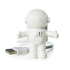 ieftine Lumini Nocturne LED-ywxlight® usb led reglabil lumina de noapte răcoritoare nou astronaut spațiu pentru computer computer lampa lampă birou alb pur