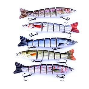 ieftine Momeală Pescuit-1 pcs Δόλωμα Momeală Dură Rezistent la uzură Lumină și convenabilă Uşor de Folosit Scufundare Bass Păstrăv Ştiucă Pescuit mare Aruncare Momeală Filare Plastice Crom / pescuit de Crap