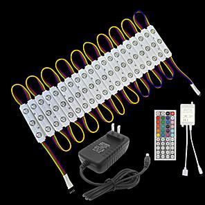 ieftine Lumini Nocturne LED-zdm 1 set rezistent la apa 5050 rgb led module lumini led lumini de vitrine dc12v 3leds total 20pcs cu bandă adezivă pentru magazin de iluminat fereastra de publicitate a condus lumina de canal scriso