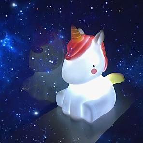 ieftine Lumini Nocturne LED-noapte lumina noutate a condus unicorn lampă drăguț decoratiuni cadouri de noapte cadouri Crăciun de vacanță ziua de naștere dormitor decor