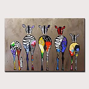 povoljno Bojano-Hang oslikana uljanim bojama Ručno oslikana - Sažetak / Pop art Moderna Bez unutrašnje Frame