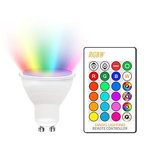 ieftine Conectori-KWB 1set 5 W Spoturi LED 400-450 lm GU10 E26 / E27 2 LED-uri de margele COB Intensitate Luminoasă Reglabilă Decorativ culoare Gradient RGBW 85-265 V / RoHs