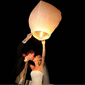 cheap Kids Activity Kits-10Pcs/Set Multi Color High Quality Chinese Lantern Fire Sky Fly Candle Lamp For Birthday Wedding Party Lantern Wish Lamp Sky Lanterns