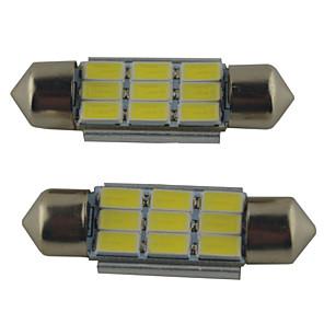 Недорогие Освещение салона авто-2шт 39мм / 36мм / 41мм автомобильные лампочки 2 Вт smd 5630 215lm 9 освещение салона автомобиля светодиодные фонари 12 В белый авто лампа для чтения лампа