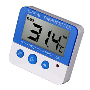 povoljno Testeri i detektori-digitalni termometar s vanjskim alarmom s vodootpornim osjetnikom vanjske temperature c601