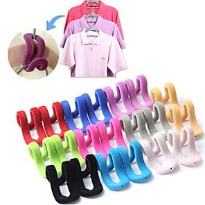 ieftine Stocare și Organizare-5pcs / lot multifuncțional flocking mini magie agățat cârlige pentru haine rack cuier călătorie organizator de îmbrăcăminte de călătorie