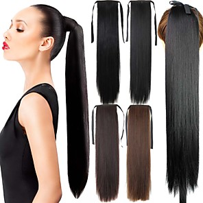 ieftine Extensii de Păr-Cu Clape Coadă de cal Păr Sintetic Fir de păr Extensie de păr Buclat