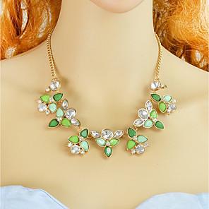 ieftine Colier la Modă-Pentru femei Coliere Floral Modă Teracotă Reșină Plastic Verde Deschis 44.5 cm Coliere Bijuterii 1 buc Pentru Zilnic