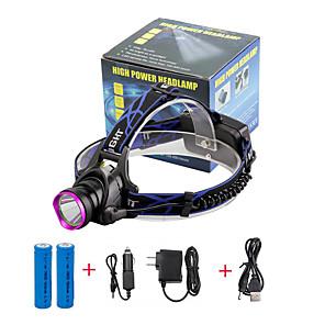 ieftine Imbracaminte & Accesorii Căței-U'King Frontale Becul farurilor 2000 lm LED LED emițători 3 Mod Zbor cu Baterii și Încărcătoare Zoomable Focalizare Ajustabilă Dimensiune Compactă De mare putere Ușor de Purtat Multifuncțional