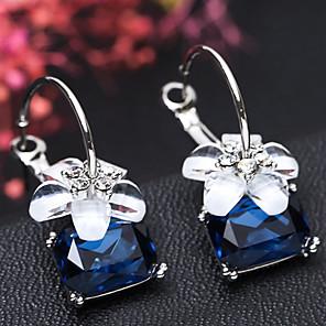 ieftine Cercei-Pentru femei Cercei Rotunzi Geometric Floare Dulce Modă Cute Stil Reșină cercei Bijuterii Negru / Rosu / Albastru Pentru Petrecere Dată 1 Pair