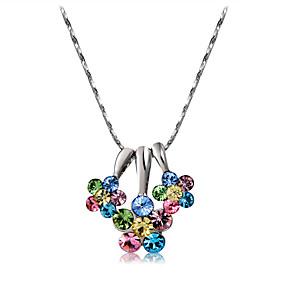 ieftine Colier la Modă-Pentru femei Multicolor Cristal Coliere cu Pandativ Șarpe Floare La modă Modă Elegant Argilă Crom Argintiu 43 cm Coliere Bijuterii 1 buc Pentru Zilnic Oficial