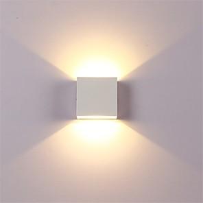 ieftine Abajure Perete-12w a condus aluminiu perete lumina feroviar proiect pătrat în aer liber rezistent la apă perete lampă dormitor cameră dormitor arte