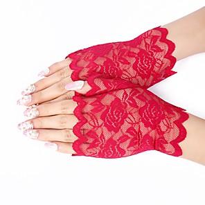 ieftine Mănuși & Mănuși 1 deget-Dantelă Lungime Încheietură Mănușă Dantelă / Mănuși Cu Solid