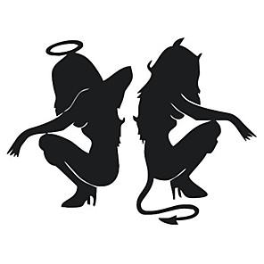 ieftine Decorarea și protecția corpului mașinii-Alb / Negru Autocolante de Mașină Desen animat / Sport / Cute Stil Etichete pentru autovehicule / Mașină de cofraj pentru autovehicule Desene Animate Acțibilde