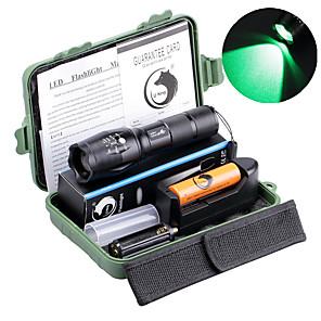 ieftine lanterne-UltraFire Lanterne LED 2000 lm LED LED emițători 5 Mod Zbor Cu Baterie și Încărcător Zoomable Focalizare Ajustabilă Camping / Cățărare / Speologie Utilizare Zilnică Voiaj / Aliaj de Aluminiu