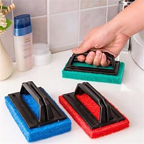 kjøkken håndterer svamp rengjøringsbørste badebørsten rød grønn blå