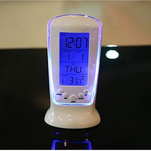 ieftine Organizatoare Birou-digital condus de birou ceas deșteptător termometru timer calendar tabel decor luminescență ceas de muzică