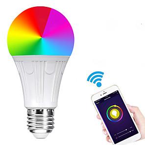 ieftine Produse de curățat-e27 7w a condus smart wifi becuri smd 5730 funcționează cu amazon alexa / app control / google home rgbw 85-265v