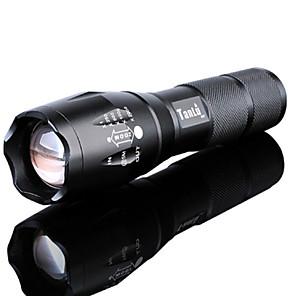 ieftine lanterne-Lanterne LED Rezistent la apă Reîncărcabil 3000 lm LED LED emițători 5 Mod Zbor Cu Baterie și Încărcător Rezistent la apă Zoomable Reîncărcabil Focalizare Ajustabilă Foarte luminos De mare putere