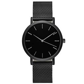 ieftine Ceasuri Bărbați-Geneva Bărbați Ceas Sport Ceas de Mână Quartz Oțel inoxidabil Negru / Argint / Auriu 30 m Rezistent la Apă Ceas Casual Mare Dial Analog Casual Modă Ceas simplu - Argintiu Trandafiriu Auriu Un an