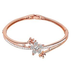 billiga Armband-Dam Armringar Klassisk Enkel Legering Armband Smycken Silver / Rosguld / Ljusbrunt Till Födelsedag Dagligen Formell