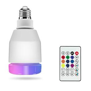 ieftine Audio & Video-1pc rgbw a condus becuri inteligente e27 led lampă de control de la distanță bluetooth 4.0 difuzor muzică colorat dimmable led lumina ac100-240v