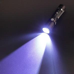 abordables Lampes de Poche-U'King Lampes Torches LED 2000 lm LED LED Émetteurs 3 Mode d'Eclairage avec Pile et Chargeurs Fonction Zoom Faisceau Ajustable Clip Camping / Randonnée / Spéléologie Usage quotidien Extérieur