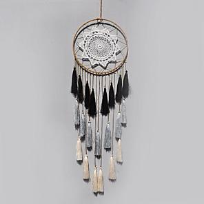 voordelige Wanddecoratie-handgemaakte dromenvangers met veren Bohemen india stijl wanddecoratie